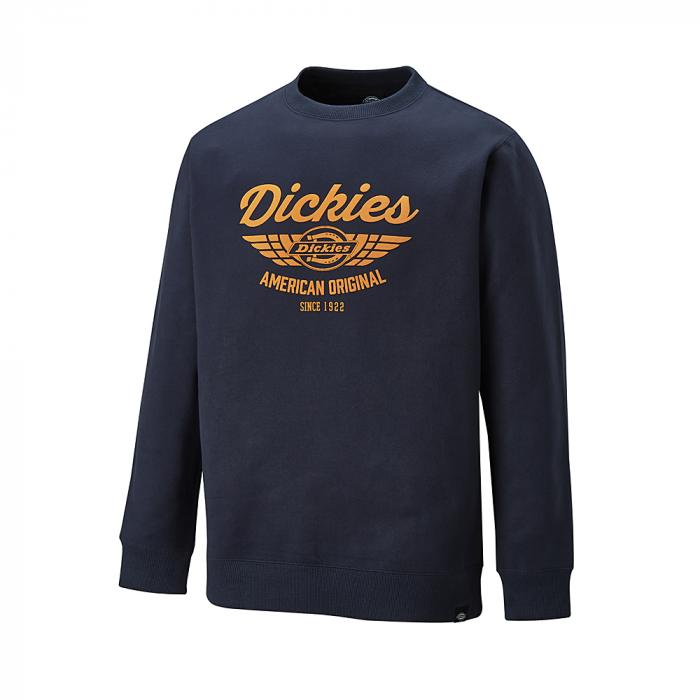 Everett sweatshirt - Dickies - Storlekar S till 4XL - marinblå / orange