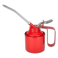 Metal oilcan - with rigid and flexible spout