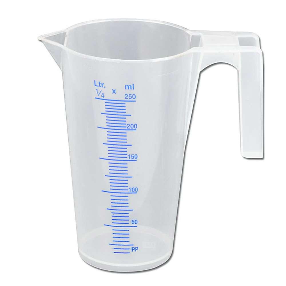 Måttkopp - för vätskor - graderad - plast