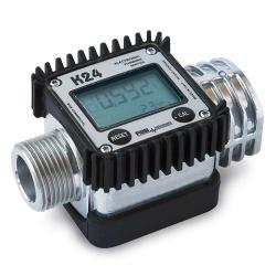 Compteur numérique K24-A - aluminium - pour l'eau / diesel / RME - pour le débit 7-120 L / min.