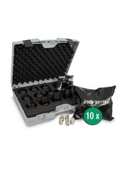 Startpaket ptcsystem® - PTC-pistol - 10 slangmunstycken och 10 standardprojektiler efter eget val - i ett fodral
