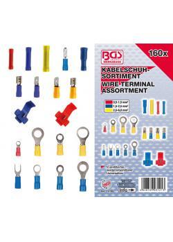 Kabelschuh-Sortiment - mit verschiedensten Arten von Kabelschuhen - 160-tlg.