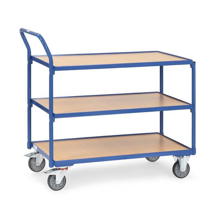 Tableau chariot - Capacité 250 kg - poignée de haut standing - avec 3 étages