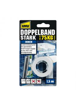 UHU Doppelband Stark - Rolle 1,5 m x 19 mm, Infokarte