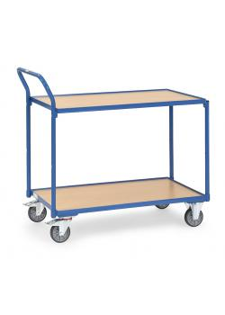 Table trolley - Capacity 250 kg - with 2 shelves - handle high standing
