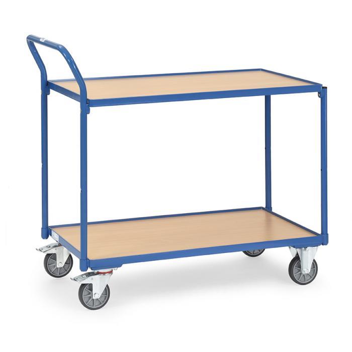 Tableau chariot - Capacité 250 kg - avec 2 tablettes - gérer haut standing