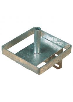 Lickstone holder metal - dimensions 20.5 x 20.5 x 23.5 cm