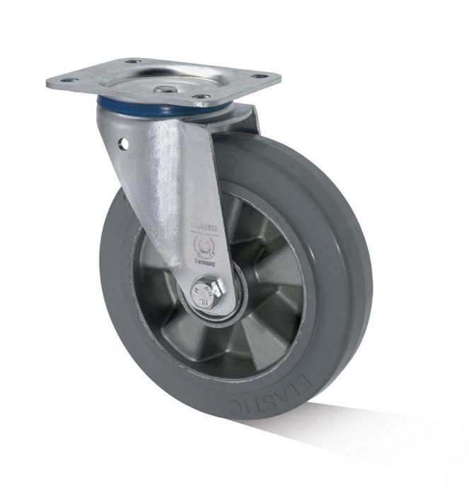 Lenkrolle - Aluminium-Druckgussrad - Rad-Ø 125 bis 200 mm - Bauhöhe 155 bis 235 mm - Tragkraft 200 bis 400 kg