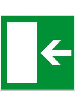 """Nödutgångsskylt """"nödutgång vänster, höger"""" - 5-40 cm"""