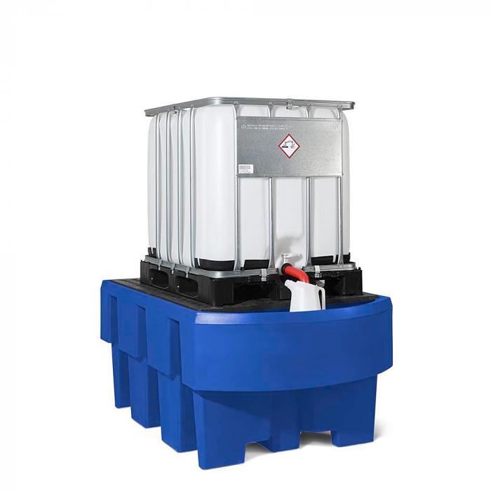 Auffangwanne classic-line - Polyethylen (PE) - für IBC - mit Abfüllbereich und PE-Gitterrost