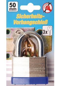 Sicherheits-Vorhängeschloss - inkl. 3 Schlüsseln - 50 mm