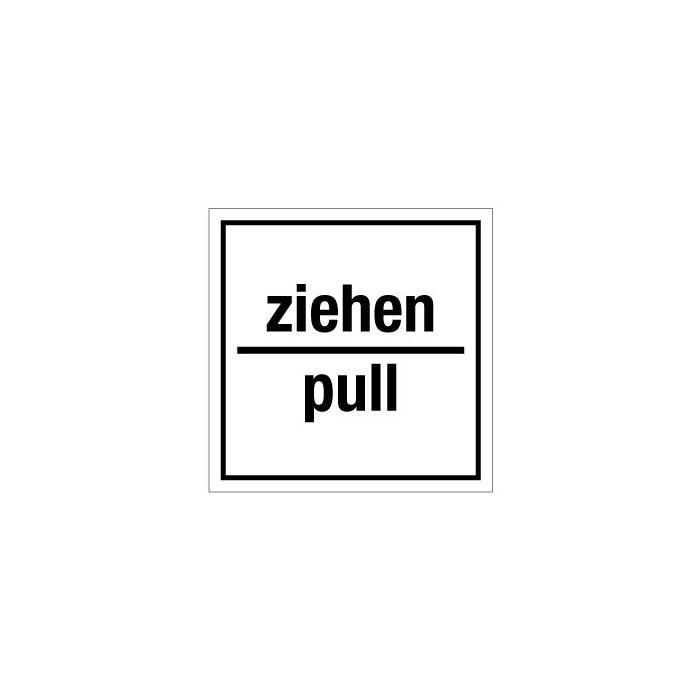"""Türkennzeichnung """"ziehen / pull"""" - 50 mm bis 400 mm"""