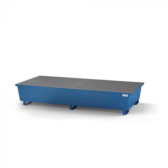 Auffangwanne classic-line - Stahl lackiert oder verzinkt - für 2 IBC - 2 Gitterroste