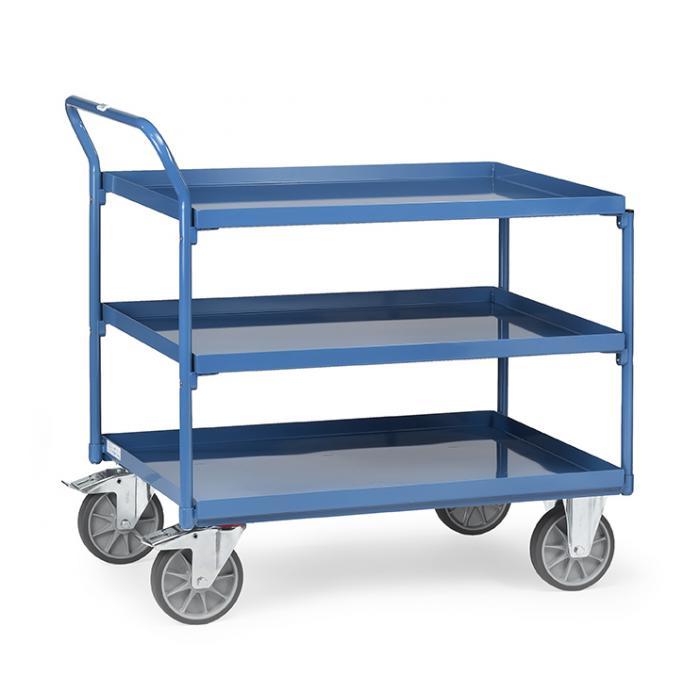 Tabella trolley - con 3 piani di vassoi di metallo - gestire elevato standing