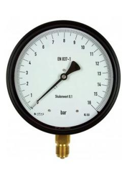 pressione della manopola di precisione calibro - tipo NS160 - classe di precisione 0,6 secondo DIN EN 837-1