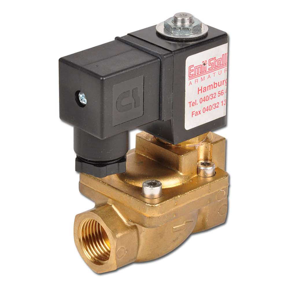 Solenoid Valve - 2/2-way - Air Water Oil - 0.3 to 20 bar - normally closed or opened