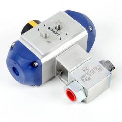 Hochdruck Kugelhahn DN 10 - PN 500 bar - Anschluss G 3/8 Zoll - Einbaulänge 73 mm - nicht korrosive Flüssigkeiten