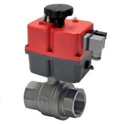 Elektrischer Kugelhahn - Messing - Stellzeit 140 Sek. - DN 38 - von 85 bis 240 V AC/DC - PN 40 bar