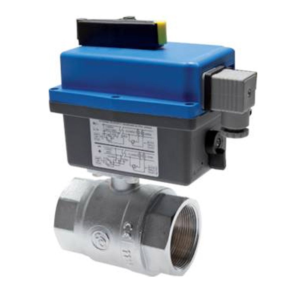 Ball Valve With Electrical Pivotable Drive (Sanitary Construction Type) - Nickel