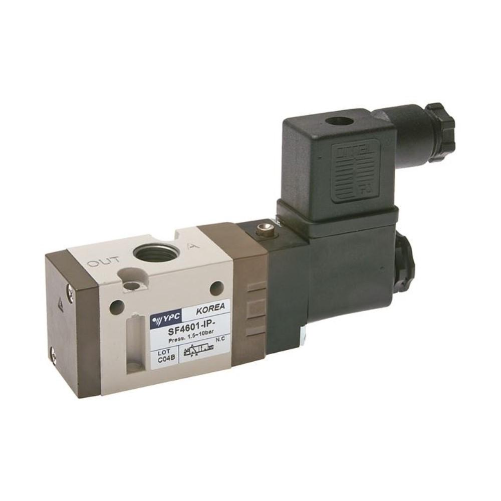 Electrovanne 3/2 voies - série SF 4000 - filetage G 1/4 pouce - normalement ouverte - connecteur DIN
