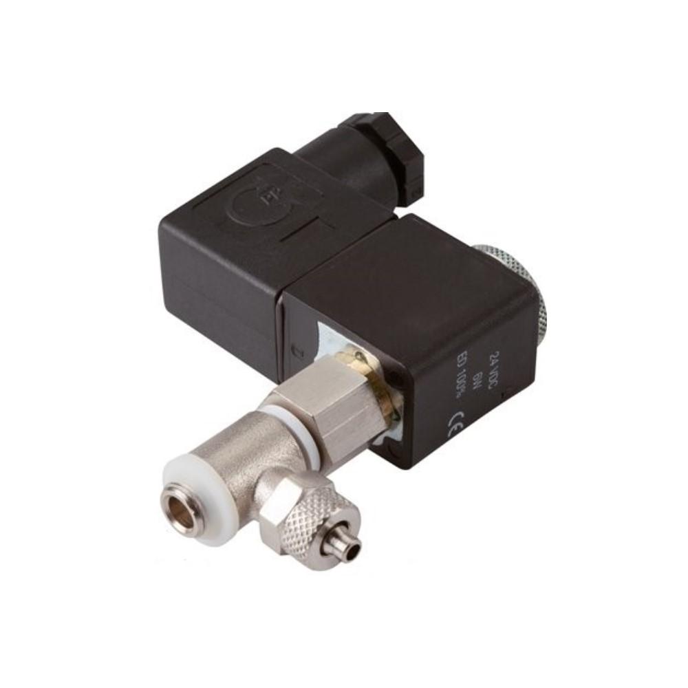 Électrovanne 2/2 micro-modulaire série M - normalement ouverte ou fermée - pour air comprimé et gaz neutres - 15 bar - raccord à coiffe