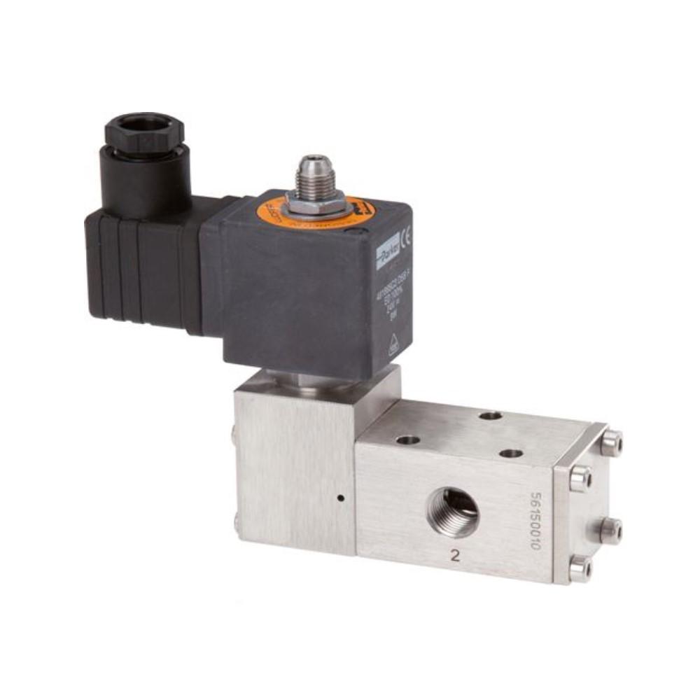 """Magnetventil - 3/2- oder 5/2-Wege - Edelstahl - für Druckluft - IG G 1/4"""" - Federrückstellung - PN 3 bis 12"""