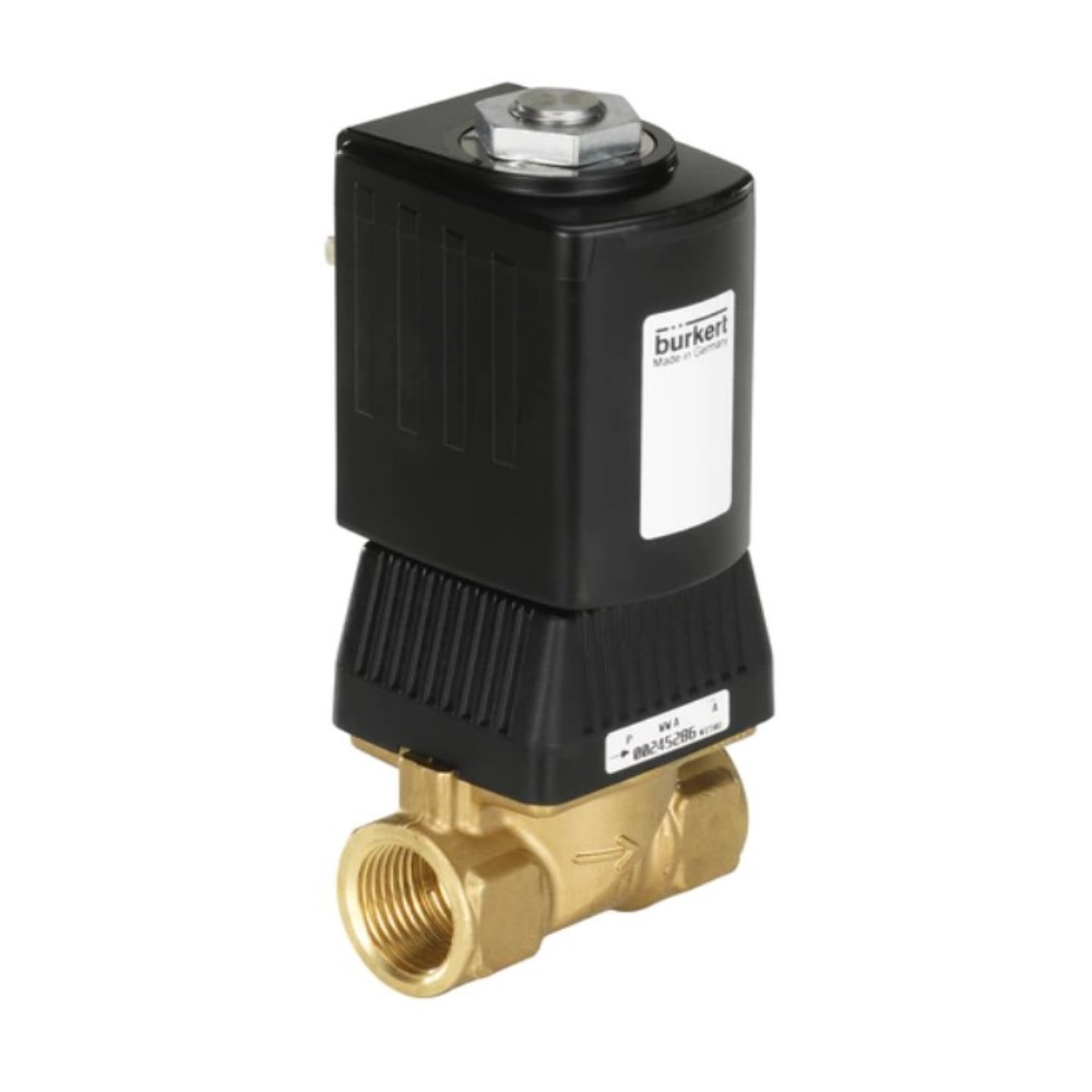 """Électrovanne 2/2 - normalement fermée - pour air comprimé, eau, et huile hydraulique - 0 à 25 bar - de G 1/4"""" à G 3/8"""""""