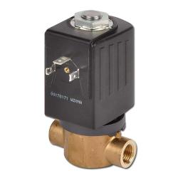 Solenoid valve 2/2-way - water air vacuum oil - closed when currentless or open