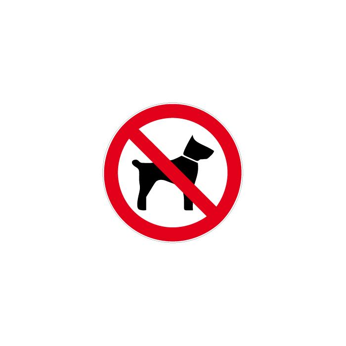 """Verbotszeichen """"Mitführen von Tieren verboten"""" Ø 5 bis 40 cm"""
