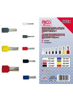 Aderendhülsen-Sortiment - isoliert - 685-tlg.