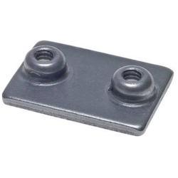 Anschweißplatte für Rohrschellen - Stahl oder Edelstahl - leichte Baureihe - Baugröße 0 bis 6 - Preis per Stück