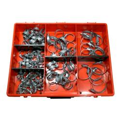 Hose clamps range- Galvanized - clamping rang 8 to 50mm - DIN 3017 - width 9 mm