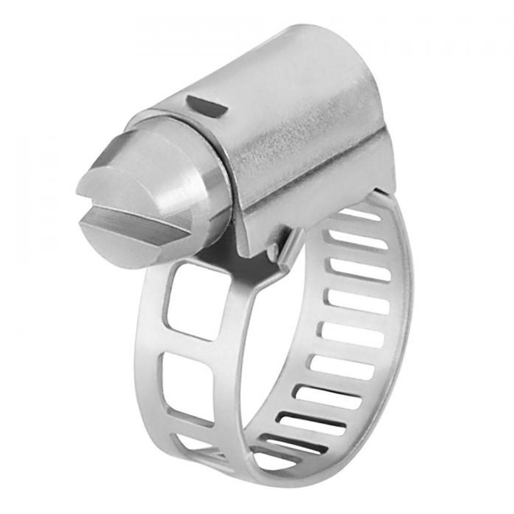 Fascetta stringitubo a vite senza fine - acciaio - capacitá di serraggio 7-19 mm - larghezza 5 mm