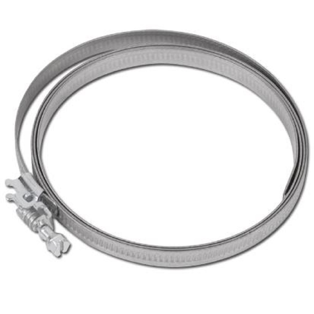 Fascetta stringitubo a vite senza fine - alluminio zincato - capacitá di serraggio da 50 a 625 mm - larghezza 9 mm