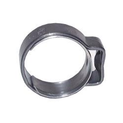 1-Ohr-Schlauchschelle - Edelstahl - mit Einlagering - Spannbereich 6,3 bis 7,5 mm - Breite 6,4 mm