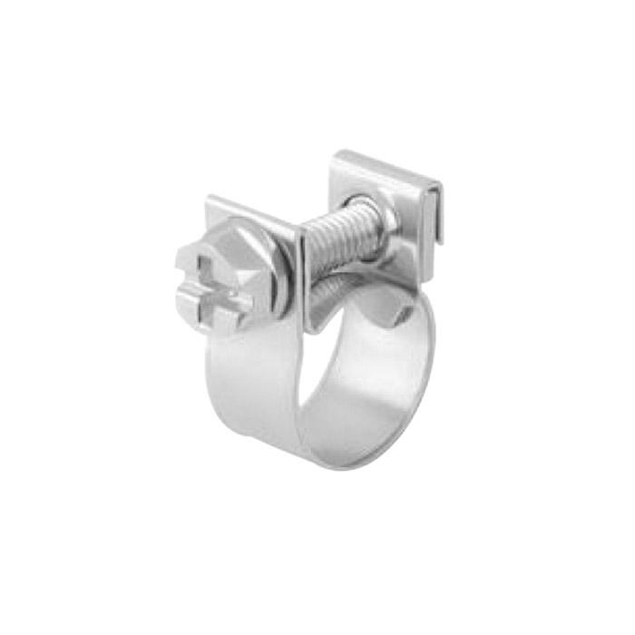 Spannbackenschelle ABA Mini - Edelstahl 1.4301 - Nenndurchmesser 8 bis 17 mm - Bandbreite 9 mm