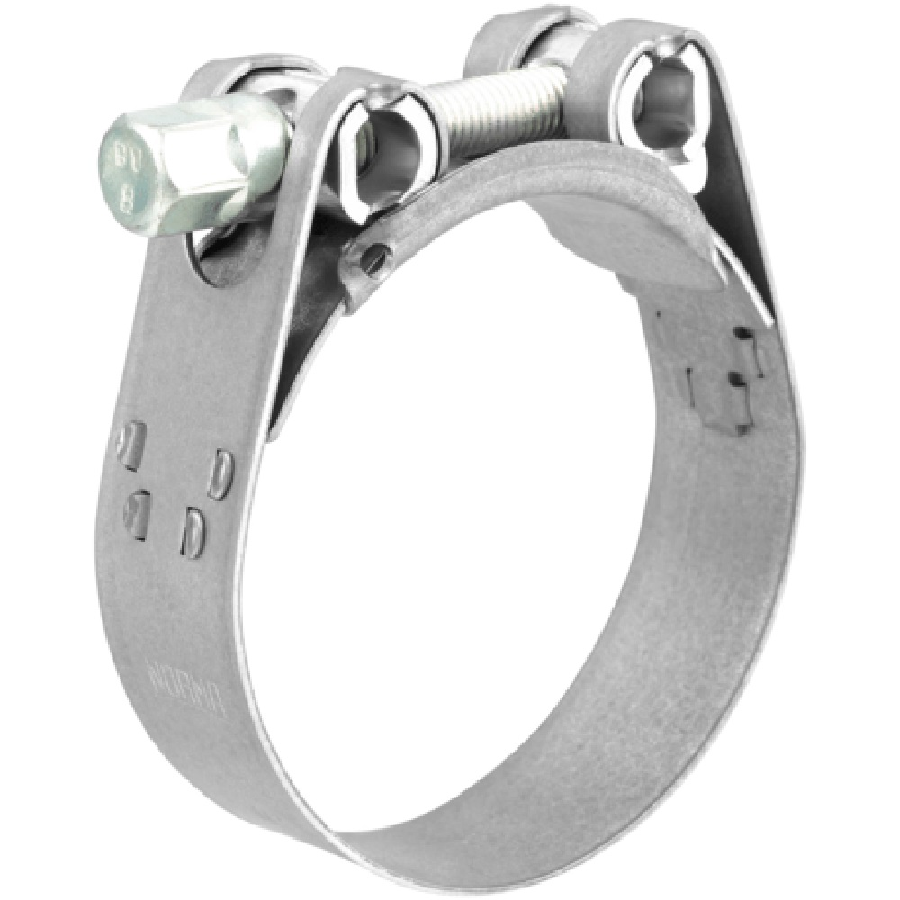 Collare a bullone - acciaio inox V4A - capacitá di serraggio Ø da 64 a 252 mm - larghezza 25 mm