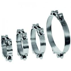 Gemensam klämma GEMI GBS 2-del - Spännområde Ø 40 till 166 mm - Galvaniserat stål - Bredd 20 mm