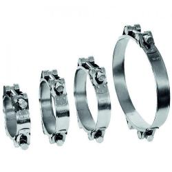 Fäststiftsklämma GEMI GBS 2-delsklämma Ø 80 till 305 mm - Galvaniserat stål - Bredd 25 mm