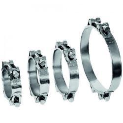 Ledskruvklämma GEMI GBS 2-delsklämma Ø 80 till 465 mm - Galvaniserat stål - Bredd 30 mm