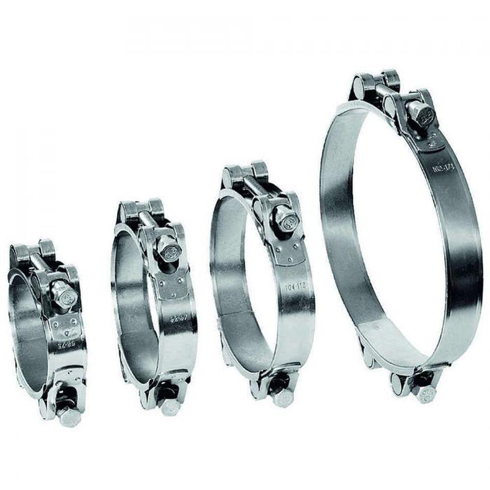 Fäststiftsklämma GEMI GBS 2-delsklämma Ø 40 till 166 mm - Rostfritt stål 1.4401 - Bredd 20 mm