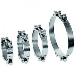 Fællesstiftklemme GEMI GBS 2-delt - klemmeområde Ø 40 til 166 mm - rustfrit stål 1.4401 - bredde 20 mm