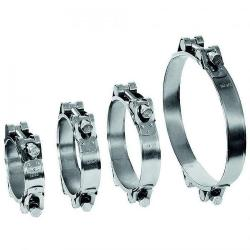 Joint bolt clamp GEMI GBS 2-piece - clamping range Ø 80 to 465 mm - stainless steel 1.4401 - width 30 mm
