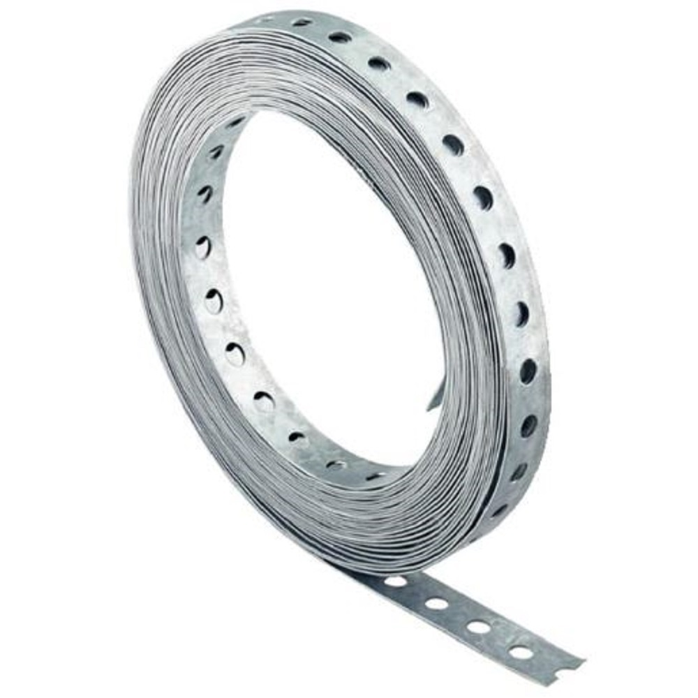 Perforated strip LBV - Galvanized steel - Length 10 m - Width 12 to 27 mm - Thickness 0.75 to 2.6 mm - Price per pack