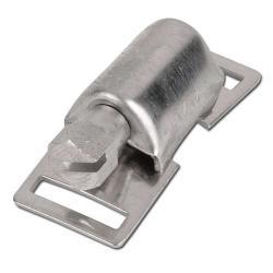 Tête fixe pour collier de serrage à filet hélicoïdal - acier inoxydable - largeur 13mm