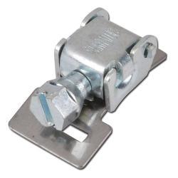 Tête déverrouillable pour collier de serrage à filet hélicoïdal - acier galvanisé - largeur 9mm