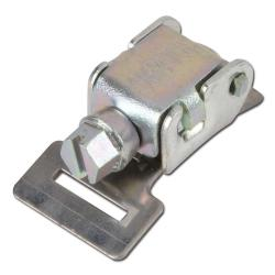 Hose clamp head - steel - for 12mm width - foldable - galvanized