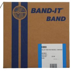 Monel 400 Band - Breite 9,6 mm - Stärke 0,64 mm - VE 30,5 m - Preis per Rolle