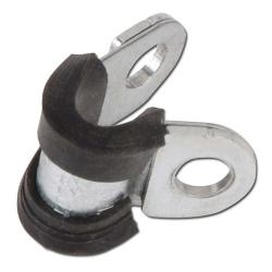 Pipe clamp with rubber - steel - 12 mm - ø 5 to 30 mm