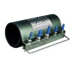 Erste-Hilfe Reparaturschelle K - Edelstahl 1.4301 - Spannbereich-Ø 59 bis 202 mm - Preis per Stück